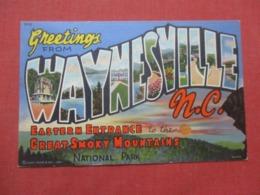 Greetings  Waynesville  North Carolina     Ref 4292 - United States