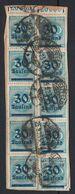 Germany 1923 Inflation 30T/300M X10 On Piece - Oblitérés