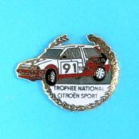 1 PIN'S //   ** TROPHÉE NATIONAL CITROËN SPORT / TOTAL / MICHELIN ** . (Démons & Meiveilles) - Citroën