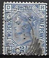 GRANDE  BRETAGNE  /   U.K.  -   1880.   Y&T N° 62 Oblitéré.     Planche 22.    Cote 30,00 Euros. - 1840-1901 (Victoria)