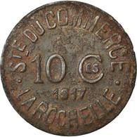 Monnaie, France, Société Du Commerce, La Rochelle, 10 Centimes, 1917, TTB - Monétaires / De Nécessité