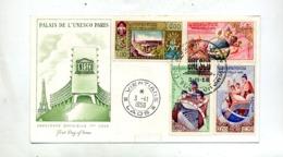 Lettre Fdc 1958 Unesco - Laos