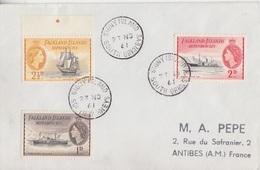 Lettre Des Falkland Dependencies N° 52, 54, 55 (Trepassey, Eagle, Penola), Obl. Signy Is. Le 23 NO 61 - Falkland