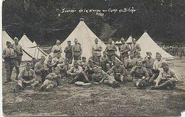 X11143 SOUVENIR DE LA SOUPE AU CAMP DE BITCHE EN 1927 CARTE PHOTO SOLDAT MILITAIRE SOLDATS MILITAIRES - Bitche