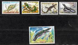 BELGICA Nº 1344 AL 1348 - Reptiles & Amphibians