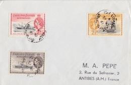 Lettre Des Falkland Dependencies N° 52, 54, 55 (Trepassey, Eagle, Penola), Obl. Port Lockroy Le 27 NO 61 - Falkland