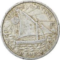 Monnaie, France, Union Latine, Comité Du Sud-Ouest, Toulouse, 25 Centimes - Monétaires / De Nécessité