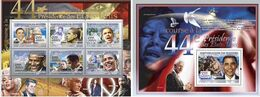 Guinea 2008, President Obama, Kennedy, 6val In BF +BF - Kennedy (John F.)