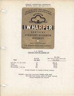 Superbe Et Rare Etiquette / The House Of Schenley N.Y. / 1951 / I.W. HARPER KENTUCKY STRAIGHT BOURBON 86° - USA