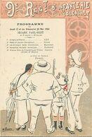 A315-hanoi -viet Nam -1906- Musique Du 9eme Regiment D Infanterie Coloniale Par Chef De Fanfare Prince -illustrat Pauher - Programmes