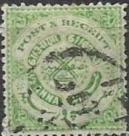 HYDERABAD 1915 Symbols - 1/2 A - Green FU - Hyderabad