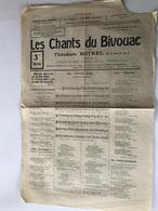 LES CHANTS DU BIVOUAC - 1916 - Theodore BOTREL - 1914-18