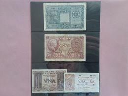 Regno/Repubblica - Biglietto Di Stato - 4 Banconote + Spese Postali - [ 2] 1946-… : République