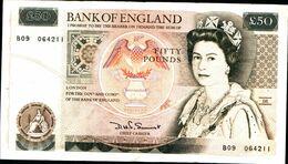 20121) REGNO UNITO Fifty Pound £50 Banknote SERIE B (1981) In VF+ Condition -banconota Non Trattata.vedi Foto - 1952-… : Elizabeth II