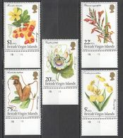 A718 1981 BRITISH VIRGIN ISLANDS NATURE FLORA FLOWERS #403-7 1SET MNH - Otros
