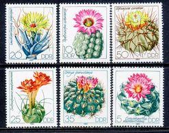 Germany 1983 DDR Alemania / Flowers Cactus MNH Fleurs Flores Blumen Kaktus / 1240  38-57 - Sukkulenten