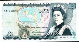 20140) REGNO UNITO ENGLISH FIVE POUND BANK NOTES -banconota Non Trattata.vedi Foto-FORI - 1952-… : Elizabeth II