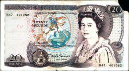 20141) REGNO UNITO ENGLISH TWENTY POUND BANK NOTES -banconota Non Trattata.vedi Foto- - 1952-… : Elizabeth II