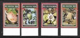 SAINT-KITTS 2002 FRUITS YVERT N°1079/82 NEUF MNH** - Fruits