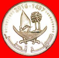· SHIP: QATAR ★ 50 DIRHAMS 1437-2016 MINT LUSTER! LOW START ★ NO RESERVE! - Qatar