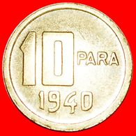 · ERROR CRESCENT AND STAR (1948-1956): TURKEY ★ 10 PARA 1940! LOW START ★ NO RESERVE! - Turkey