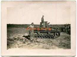 Old Photo Military Vehicle War Tank - Guerra, Militari