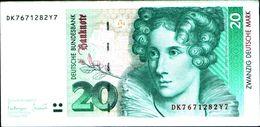 20147) Germania 20 Marchi 1993 BB+++ VF  -banconota Non Trattata.vedi Foto- - 20 Deutsche Mark
