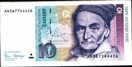 20152) Germania 10 Marchi 1989 BB+ VF  -banconota Non Trattata.vedi Foto- - [ 7] 1949-… : RFD - Rep. Fed. Duitsland