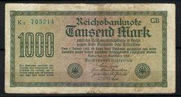 ALLEMAGNE 1923:  Billet De 1'000 Mark De La Reichsbank, Bon état - [ 3] 1918-1933 : République De Weimar