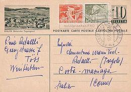 Biglen - Ganzache Mit Zusatzfrankatur - 1953         (00806) - Enteros Postales