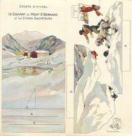 A329-magasin Belle Jardiniere Paris -images A Decouper -sports D Hiver -couvent Du Mont St Bernard Et Chiens - - Autres