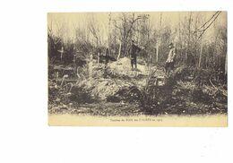 Cpa Militaria - GUERRE 1914-18 - Tombes Du BOIS Des CAURES En 1915 Soldats - Tampon 7 Sept 1929 DANVILLERS Cor De Chasse - Cementerios De Los Caídos De Guerra