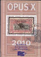 OPUS  X     Academie Europeenne De Philatélie Français /  Anglais 247 Pages - Filatelie En Postgeschiedenis