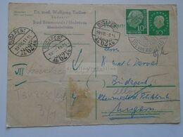 ZA301.22 Germany Uprated Postal Stationery - Bad Bramstedt / Holstein  To Budapest 1959 - [7] Federal Republic