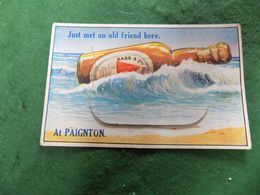 VINTAGE UK SOUTH DEVON: PAIGNTON Old Friend Bass Brewery Novelty Fold Out Beer Dennis - Paignton