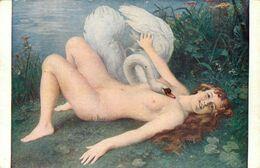 Nu Curiosa * Léda Par J. Scalbert * Salon Musée * Femme Nues Seins Nus * Nude - Weibliche Schönheit Von Früher < 1920