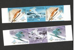 SERBIA & MONTENEGRO-STRIP-OLYMPICS-IMPERFORATED PROOF-CROMALINE PAPER-ITALY-2006. - Imperforates, Proofs & Errors