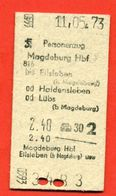 GDR 1973. Magdeburg-Eisleben. - Europa