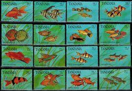 MDN-BK1-059-2 MINT POSTFRIS ¤ TANZANIA 1991 16w In Serie ¤ SEA ANIMALS - FISH - SEA LIFE - SEA MAMMALS - Fishes