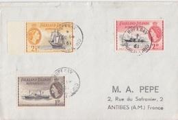 4 Lettres Des Falkland Dependencies N° 52, 53, 54, 55, 56, 57 (Navires), Obl. Hope Bay Le 14 DE 61 - Falkland