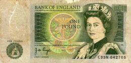 Bank Of England One Pound L1 - Isaac Newton - Elisabeth - C33N  042705 - 1 Pound