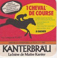 Sous-Bock KANTERBRAU 1 Cheval De Course à Gagner 1980 - Beer Mats