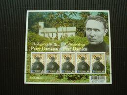 Postzegelvelletje **Pater Damiaan**postfris** - Unused Stamps