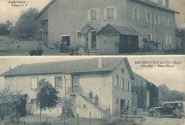 CPA  57 RECHICOURT LE CHATEAU 2 Vues Cafe Restauran - Rechicourt Le Chateau