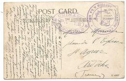 CACHET VIOLET CUIRASSE PATRIE D'ESCADRE CARTE MALTA 23.8.1914 - Storia Postale