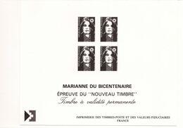 PIA  - FRAN - 1990 : Prova Di Stampa Del Francobollo  Marianna Del Bicentenario - (Yv  2630x4) - Blocs & Feuillets