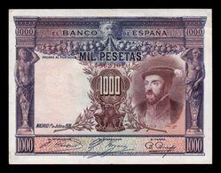 España Spain 1000 Pesetas Carlos I 1925 Pick 70c T.101 MBC+ VF+ - [ 1] …-1931 : Premiers Billets (Banco De España)