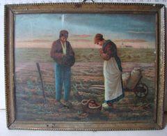 Lot. 1385. Petit Cadre En Laiton Offert Par Les Chocolats Des Chartreux En 1906 - Art Populaire