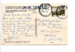 NORVEGE SEUL SUR CARTE POSTé NAVIRE M/S ROYAL VIKING POUR LA FRANCE 1977 - Norwegen