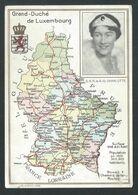 +++ CPA - GRAND DUCHE DE LUXEMBOURG - Carte Géographique - Luxemburg - S.A.R. La G-D Charlotte  // - Grand-Ducal Family